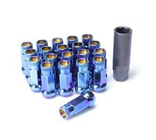 Muteki SR48 Open End Lug Nuts in Burning Blue Finish 12x1.50 | 32906UN