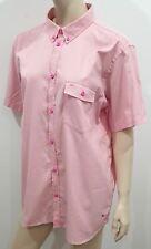 MARC BY MARC JACOBS Menswear Pink Cotton Shrunken Fit Short Sleeve Shirt XL