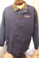 VTG Polo Sport Jacket Coat Parka Ralph Lauren L Lined American Flag Blue