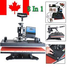 【CA】8In1 Digital Transfer Sublimation Heat Press Machine T-Shirt Mug Plate 1250W