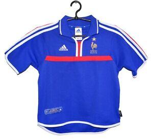 FRANCE NATIONAL TEAM 2000/2002 HOME FOOTBALL SHIRT JERSEY ADIDAS SIZE M BOYS