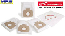 More details for milwaukee as2-250elcp - pack of 5 fleece filter bags - 4932-3523-06 - 4932352306