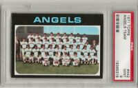 SET BREAK -1971 TOPPS # 442 ANGELS TEAM CARD, PSA 9 MINT, HIGHEST GRADED, 0 TENS