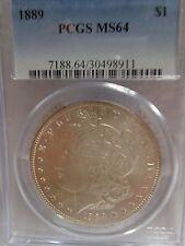 US COIN, 1889 MORGAN DOLLAR, PCGS MS 64