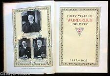 Forty Years Wunderlich Industry Australia 1887 1927 Art Metal Asbestos Cement