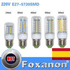 bombillas E27 llevó las lámparas de luz 5730 220 V 24 36 48 56 69 72 leds luces