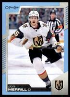 2020-21 UD O-Pee-Chee Blue Border #50 Jon Merrill - Vegas Golden Knights
