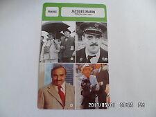 CARTE FICHE CINEMA JACQUES MARIN période 1961 - 1991