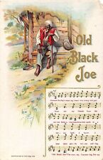 POSTCARD  COMIC  BLACK  HUMOUR / ETHNIC  Old  Black  Joe