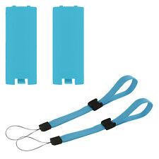 Battery cover & wrist strap kit for Nintendo Wii controller - Blue   ZedLabz