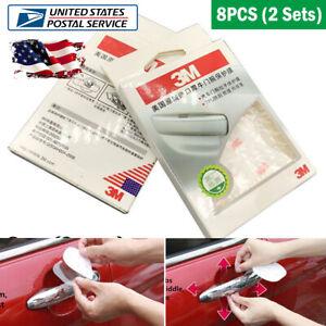 8PCS Door Handle Cup Film Transparent Stickers TPU 3M Protector Self-adhesive