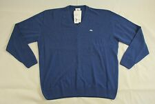 BNWT Lacoste Blue Cashmere V-neck Sweater Size XL 100% Authentic AH5122