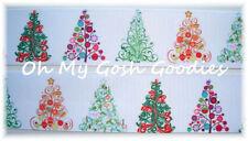 1.5 FILIGREE TREES DESIGNER CHRISTMAS GORGEOUS GROSGRAIN RIBBON 4 HAIRBOW BOW