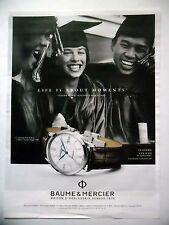 PUBLICITE-ADVERTISING :  BAUME & MERCIER Classima (étudiants)  2015 Montres