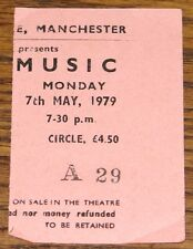 ROXY MUSIC ORIGINAL BELLE VUE MANCHESTER TICKET STUB 7 MAY 1979