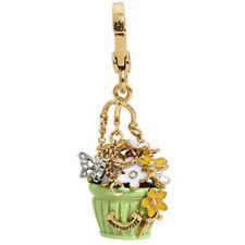 JUICY COUTURE Butterflies Flower Basket Charm Crystal Enamel NEW in BOX Retired