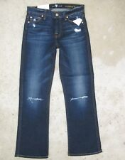 7 for all Mankind Cropped Boot Kick Flare Mid Rise Distressed Sz 24 NEW $198