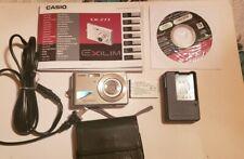 Casio Exilim EX-Z77 7.2 Mega Pixel Camera w/ 2 Batteries, 1 Charger & Case Works