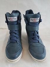 98884675cb49 Tommy Bowe(Rugby) Lloyd Price Ladies Hidden High Heel Trainers   Shoes Blue  ...