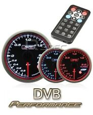 Prosport 52mm Turbo Boost Gauge BAR Smoked Stepper with Remote Control