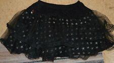 Ladie's Goth Alternative short black skirt with silver stars Living Dead Souls S