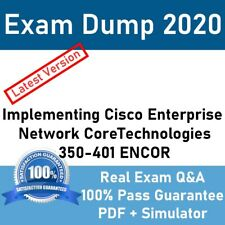 350-401 CCNP CCIE Enterprise Network Core Technologies ENCOR Exam Q&A + Sim 2020