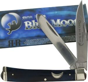 Rough Rider Once in Blue Moon Series Trapper Pocket Knife RR1194 2 Folding Blade