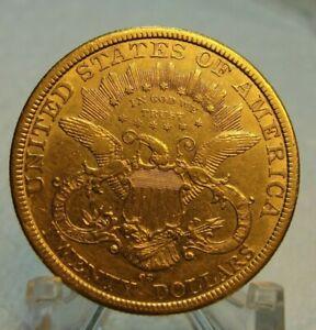 1877 CC $20 Liberty Gold Double Eagle! Rare Carson City Coin! Looks XF You Grade
