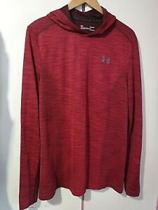 Mens UNDER ARMOUR Long Base Layer Hoody .. Large ,,  EXCELLENT condition
