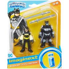New IMAGINEXT DC COMICS JUSTICE LEAGUE SUPER FRIENDS BLACK BAT & NINJA BATMAN