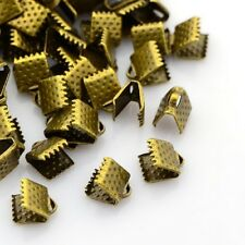 50 Attaches Ruban Fermoirs Griffe Embouts Griffe 8x6mm Bronze