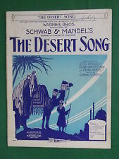 Warner Bros. SCHWAB & MANDEL'S THE DESERT SONG Oscar Hammerstein 2nd VITAPHONE