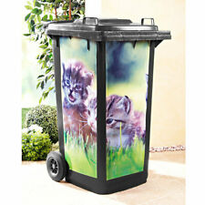 Mülltonnenaufkleber Kätzchen Katze selbstklebend wasserfest Mülltonne Tonne
