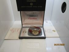 VINTAGE OMEGA CONSTELLATION AUTO CAL 751 YELLOW GOLD OVER STEEL DAY DATE B&P