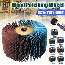 60MM 120-600# Sanding Grinding Wood Groove Polishing Wheel Cloth Mop !