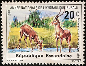 Stamp Rwanda SG1082 1981 20c Rural Water Supplies Mint Hinged