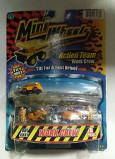 9 Piece Die Cast Micro Mini Wheels Action Team Work Crew Set
