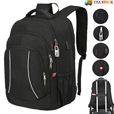 Mens Laptop Backpack Extra Large Anti Theft Waterproof RFID Travel Shoulder Bag