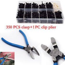 One Set 350pcs Car Push Pin Rivet Moulding Trim Clip+Remover Puller Tool Plier