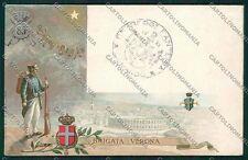 Militari Reggimentale Brigata Verona cartolina QQ7855