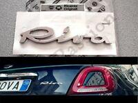 1 STEMMA SCRITTA FIAT 500 RIVA posteriore logo ORIGINALE emblema rear BADGE