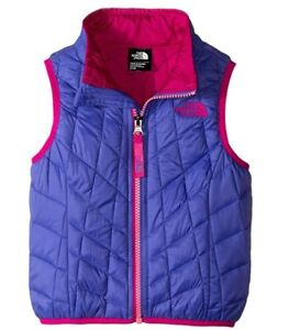 New The North Face Baby Girls Thermoball Starry Purple Outerwear Vest 2T Toddler