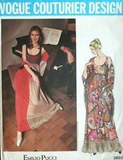 "1971 Vintage VOGUE Sewing Pattern B36"" DRESS & SHAWL (1916) By PUCCI of ITALY"