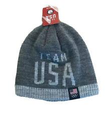 Team Usa Grey Stocking Cap Boys NWT Winter Hat Beanie Olympics United States
