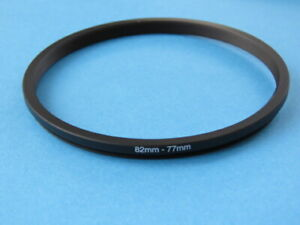82mm to 77mm Stepping Step Down Ring Camera Lens Filter Adapter Ring 82-77mm