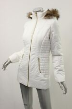 CELEBRITY PINK White Quilted Faux Fur Trim Jacket XS