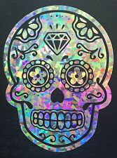 Mexican Sugar Skull Day of the Dead Crystal Holographic Car Decal Sticker 08-55