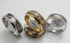 Wholesale 50pcs Imitation shellfish Gold and Silver Beveled Stainless Steel Ring