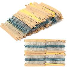 300PCS 30 Values 1/4W 1% Mixed Metal Film Resistors Resistance Assortment Kit
