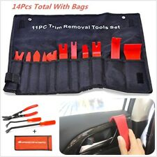 14Pcs Car Door Remover Card Panel Clip Fastener Removal Pliers Pry Bar Tools Kit